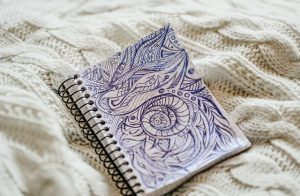 Popisany notatnik